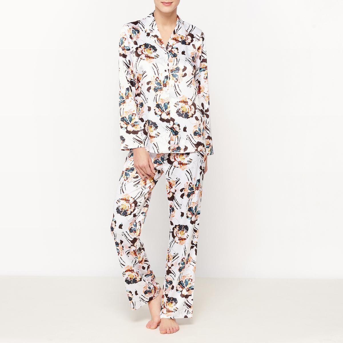 Пижама с брюками с рисунком