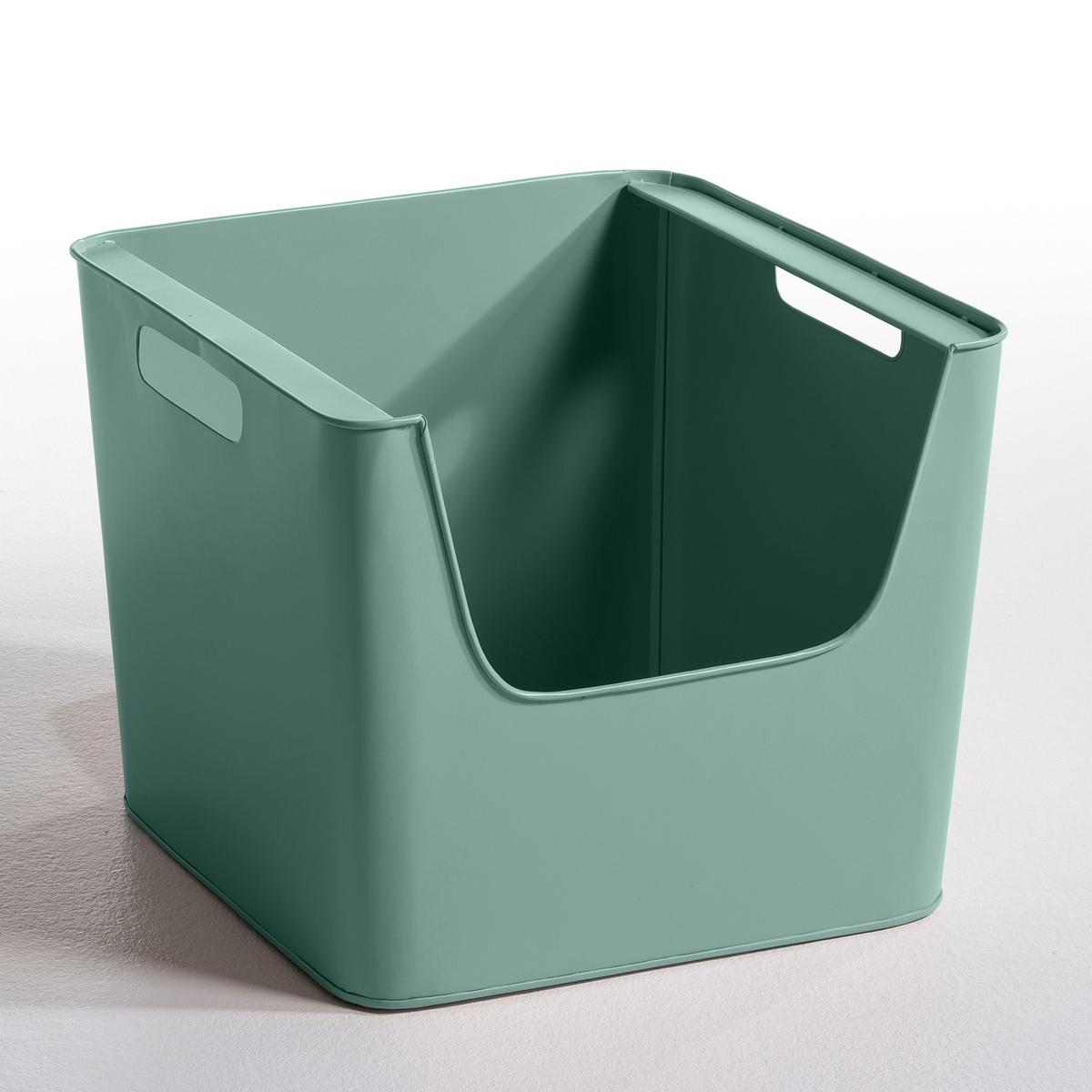 Ящик металлический Д37 x В31,5 см   ArregloНовая коллекция с закруглёнными углами в современном и одновременно в стиле ретро, простота и 7 нежных скандинавских расцветок ! Ящик большой из оцинкованного металла или покрыт эпоксидной краской с матовым эффектом. Рельефный штамп AM.PM.Характеристики ящика :- Ставятся один на другой.- Прорези по бокам для удобства переноски.Размеры  :-Д.37 x В.31,5 x гл.37 см..<br><br>Цвет: горчичный,малиновый,серо-зеленый,серый,телесный матовый<br>Размер: единый размер