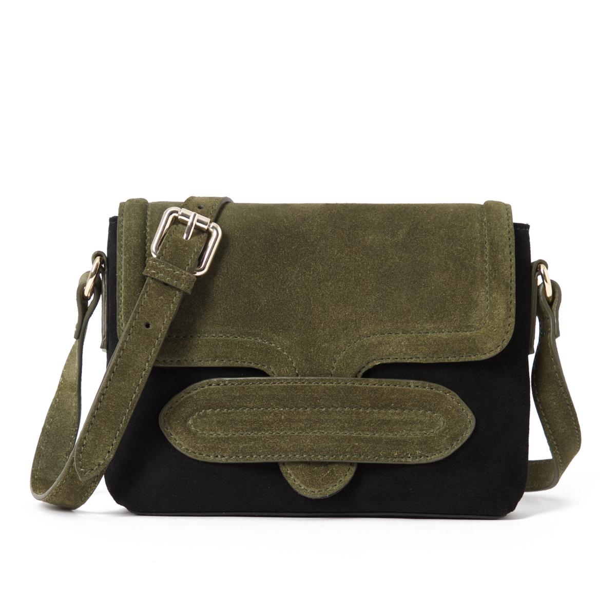 Клатч из невыделанной кожи, двухцветныйОписание:Очаровательная сумка-клатч из мягкой невыделанной кожи, стильный и оригинальный дизайн.Состав и описание : Материал : верх из невыделанной яловичной кожи             подкладка из текстиляРазмеры : L22XH17XP4 см Застежка : кнопка на магните 1 карман на молнииНесъемный регулируемый ремешок<br><br>Цвет: черный/ хаки<br>Размер: единый размер
