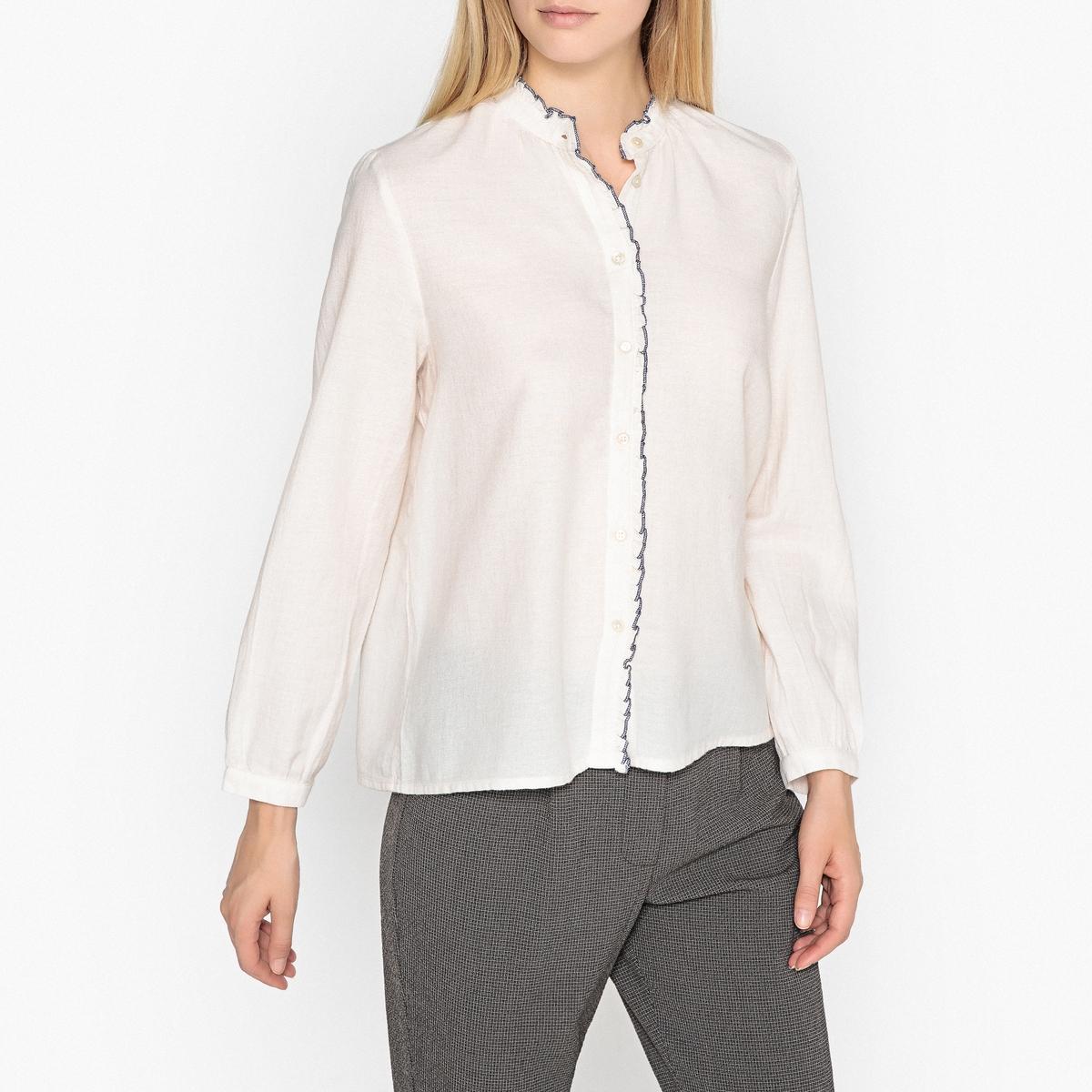 Рубашка с воротником-стойкой и длинными рукавами ENDRICK цена 2017