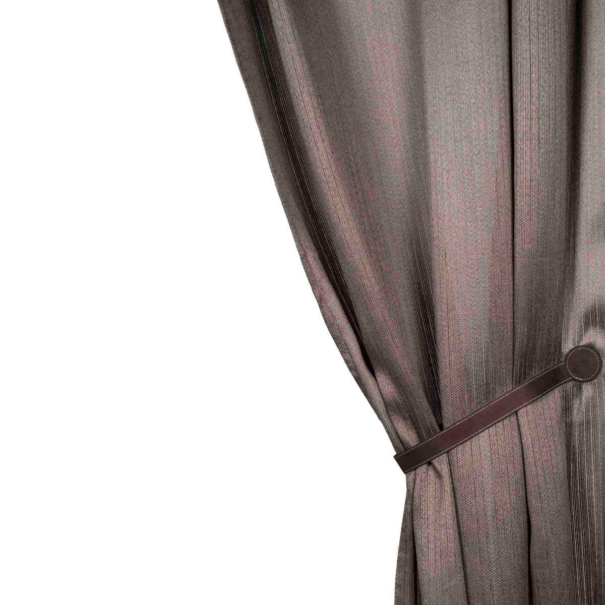 Rideau à oeillets Polyester PONDICHÉRY Gris clair