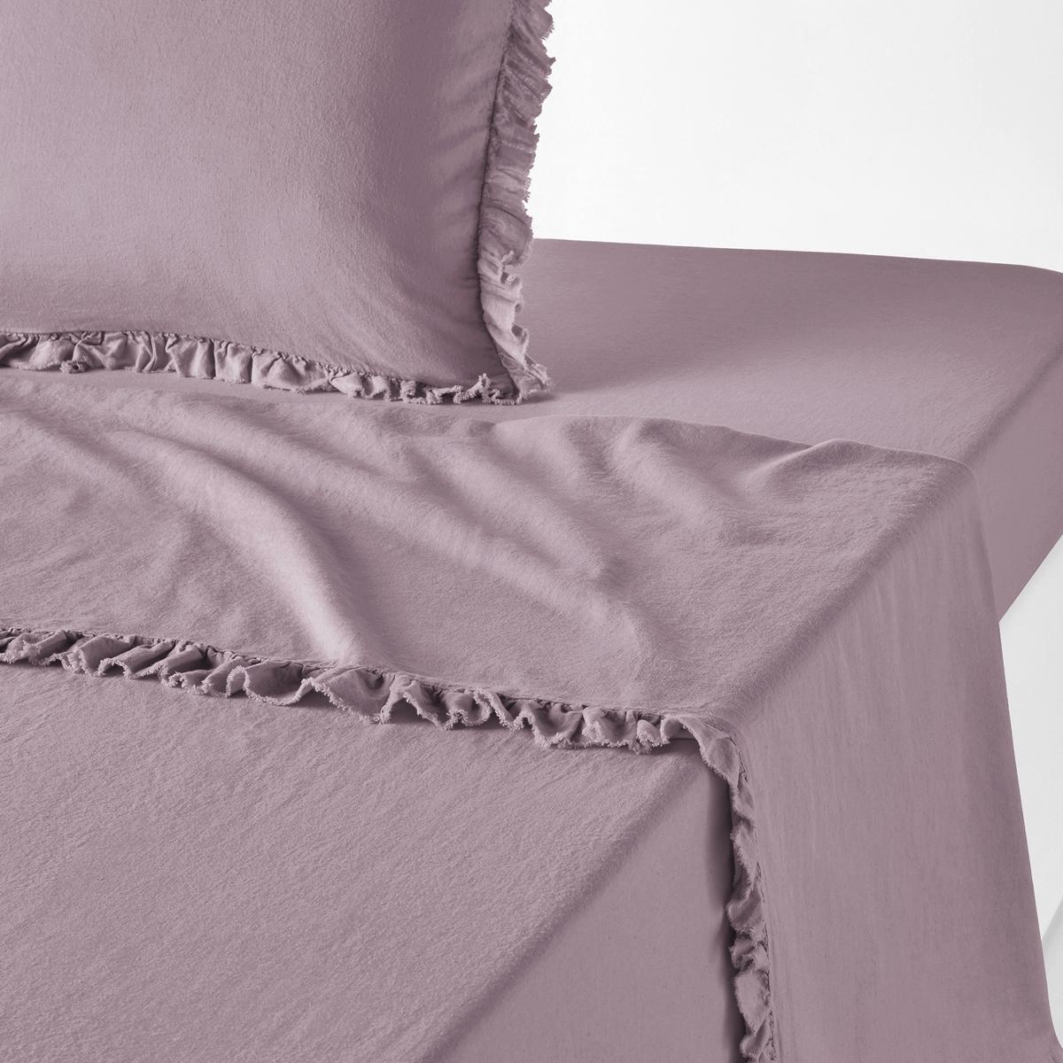 Однотонная простыня из льна и хлопка, NILLOWОднотонная простыня из льна и хлопка Nillow качество Qualit? Best. Благородный и элегантный материал из льна и хлопка в нежных и теплых тонах. Очарование и сияющая красота постельного белья Nillow.Характеристики простыни Nillow : Смесовый материал: 60% льна, 40% хлопка : мягкая и элегантная ткань из льна и хлопка с легким жатым эффектом проста в уходе. Отделка по краям бахромойСтирать при 40°, можно не гладить. ХарактеристикиВесь комплект постельного белья Nillow Вы найдете на laredoute.ruЗнак Oeko-Tex® гарантирует, что товары прошли проверку и были изготовлены без применения вредных для здоровья человека веществ. Размеры : 180 x 290 см : 1-сп. 240 х 290 см : 2-сп. 270 x 290 см : 2-сп.<br><br>Цвет: серо-голубой,серо-фиолетовый<br>Размер: 240 x 290  см.240 x 290  см