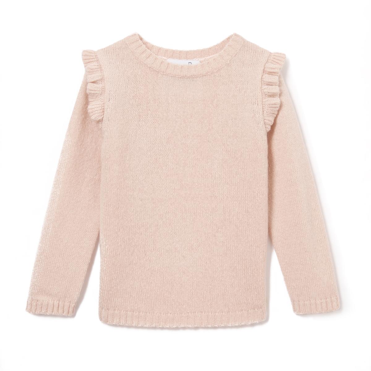 Пуловер с воланами, 3-12 лет