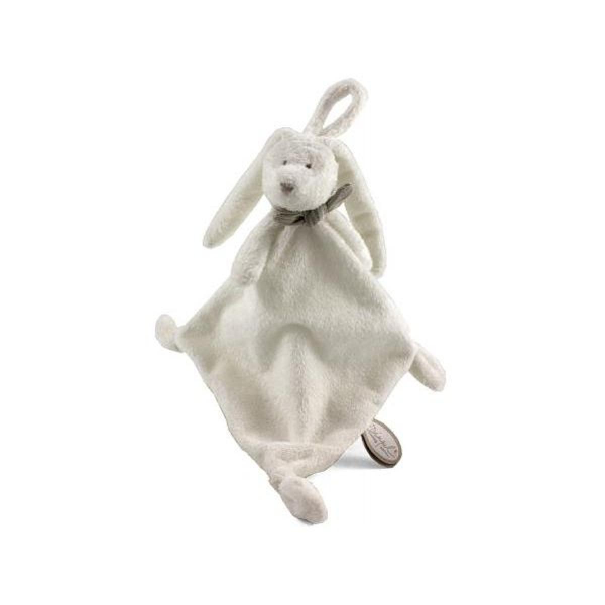 Dimpel - Attache tétine lapin Flor et Flore blanc