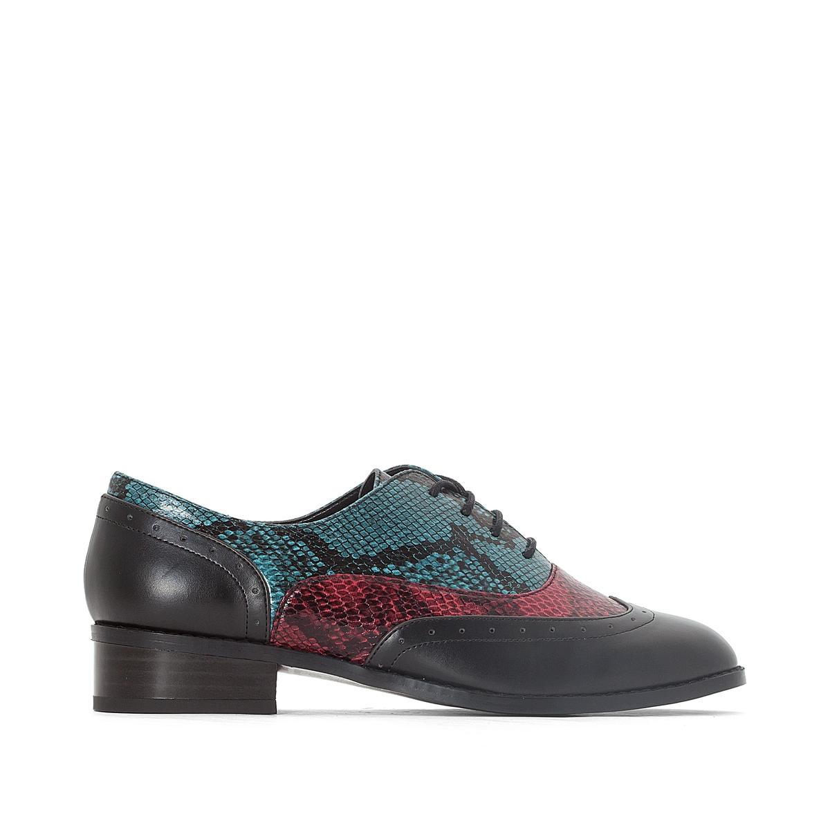 Ботинки-дерби под кожу питона
