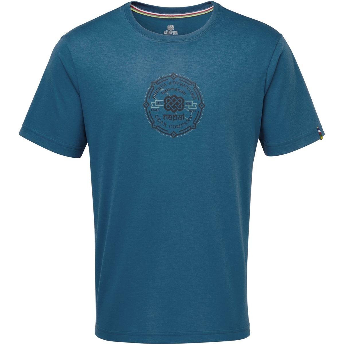 Kimti - T-shirt manches courtes Homme - bleu