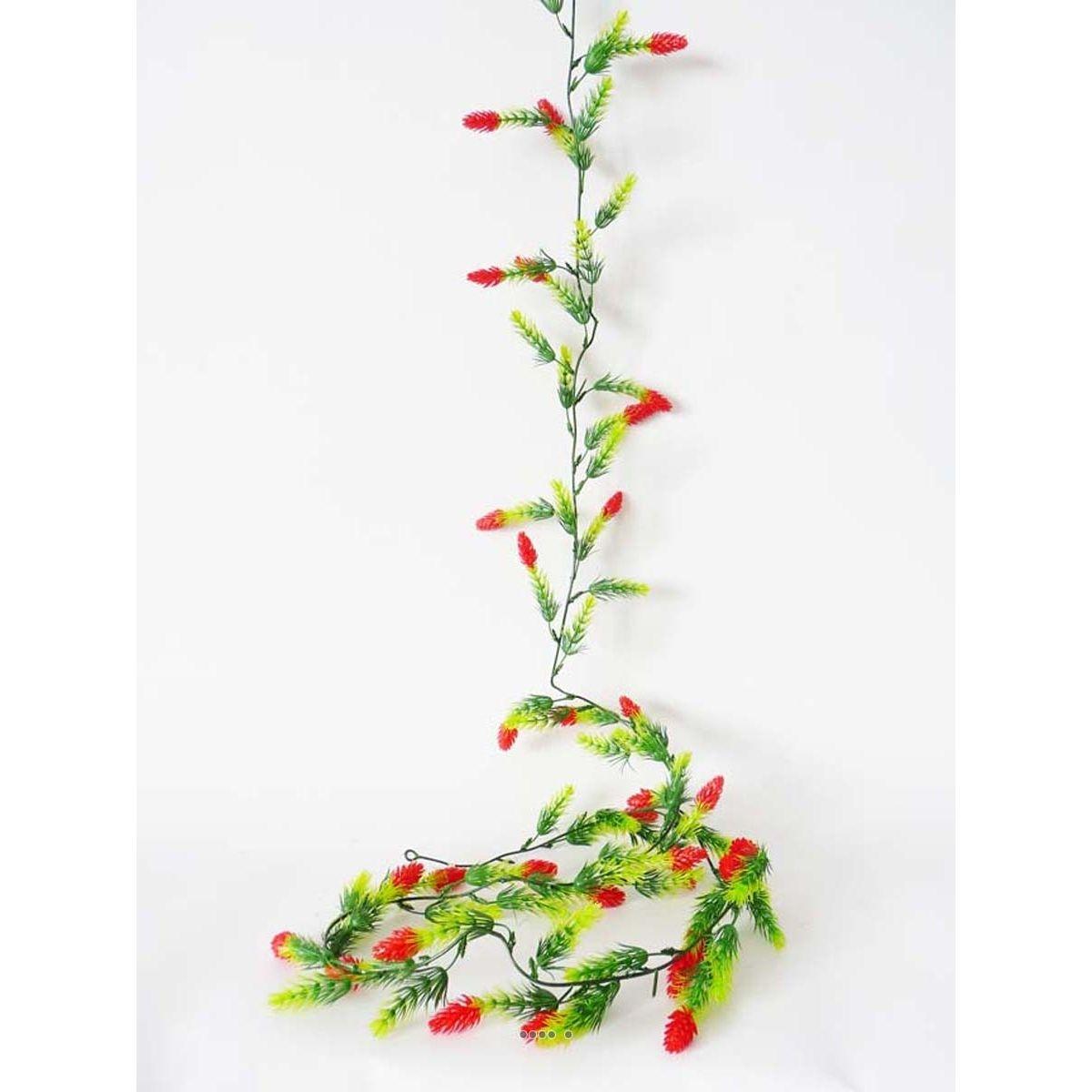Guirlande de 30 pommes de pin artificielles Rouge plastique L 180 cm - choisissez votre coloris: Rouge Cerise
