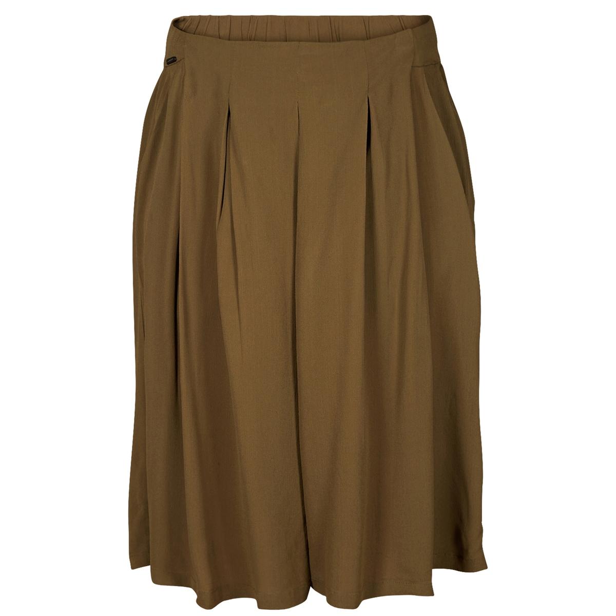 Юбка-шорты струящаясяМатериал : 100% вискоза  Рисунок : Однотонная модель Длина юбки :укороченная модель<br><br>Цвет: хаки<br>Размер: 36 (FR) - 42 (RUS).40 (FR) - 46 (RUS)