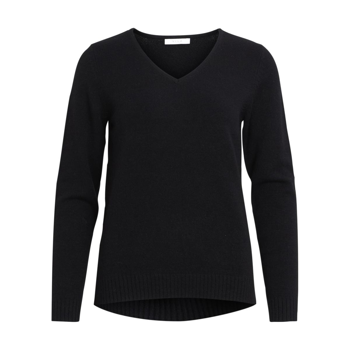 Sweter z dekoltem w kształcie litery V z cienkiej dzianiny