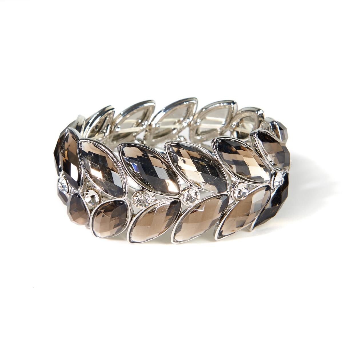 Braccialetto finta pietra e metallo