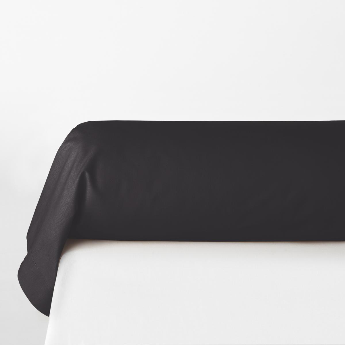 Фото - Наволочка LaRedoute На подушку-валик однотонная из поликотона Scenario 85 x 185 см черный наволочка laredoute однотонная из поликотона scenario 50 x 70 см черный