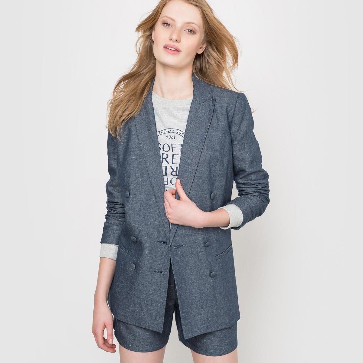Жакет блейзерВ этом сезоне, в моде - женский блейзер, он принесет элегантность небольшому платью или шика - брюкам .<br><br>Цвет: серый,синий<br>Размер: 36 (FR) - 42 (RUS).34 (FR) - 40 (RUS).36 (FR) - 42 (RUS).40 (FR) - 46 (RUS)