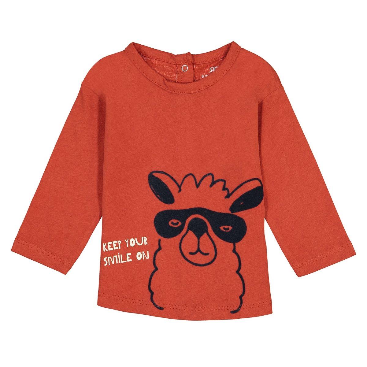T-shirt manches longues motif Lama 0 mois - 3 mois
