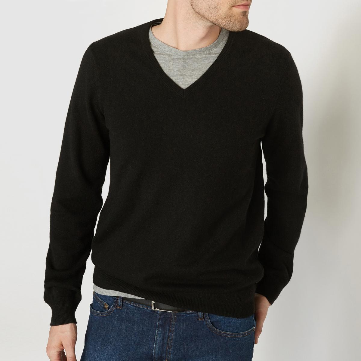 Пуловер из кашемира с V-образным вырезом