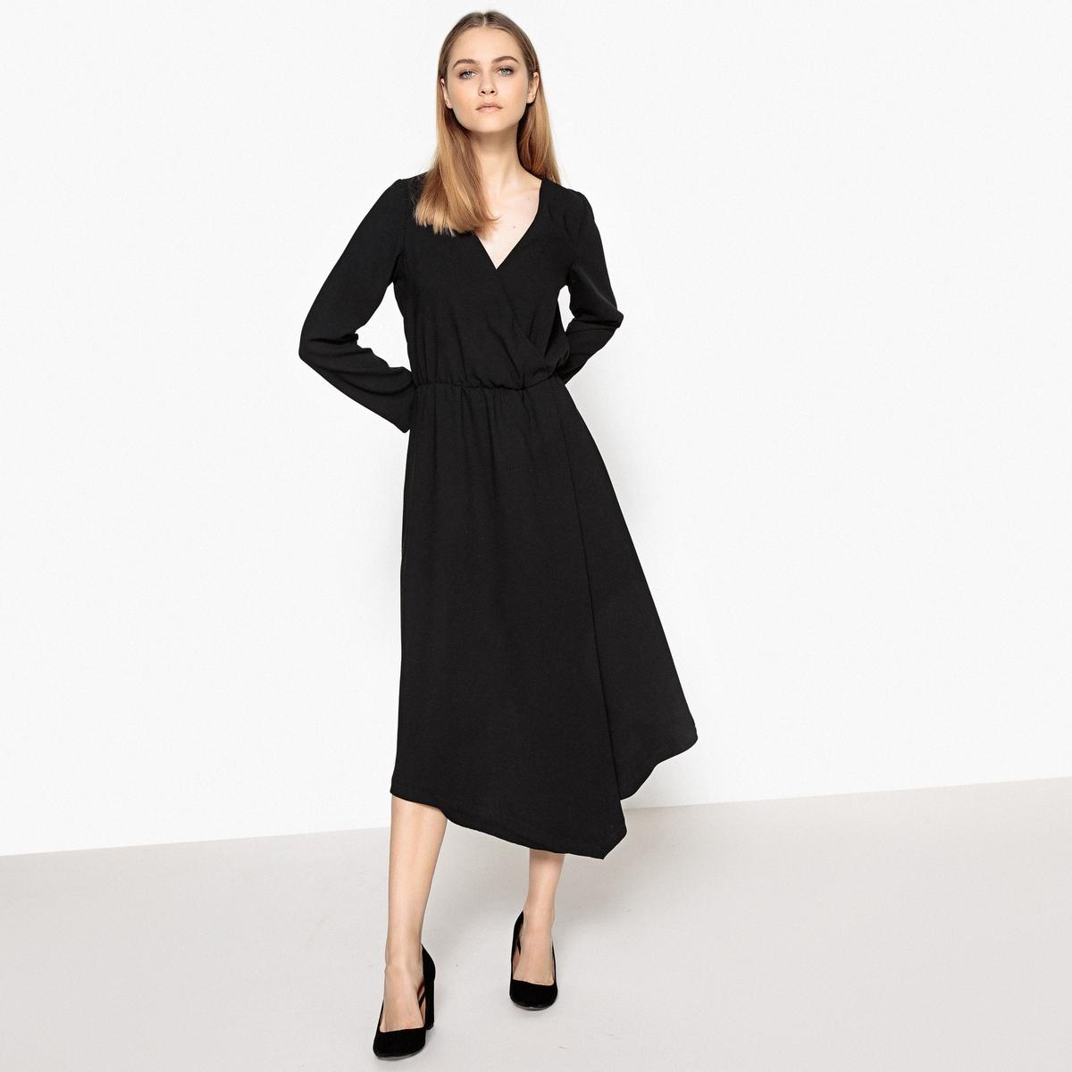 Платье-миди асимметричное