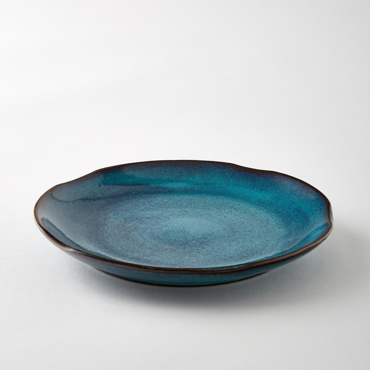 Тарелка десертная из керамики, диаметр 22 см, Aqua от SeraxХарактеристики : - Из керамики, покрытой глазурью. - Можно использовать в посудомоечных машинах и микроволновых печах- Вся коллекция Aqua на сайте ampm.ruРазмеры  : - диаметр 22 x высота 3 см.<br><br>Цвет: зеленый,синий<br>Размер: единый размер.единый размер