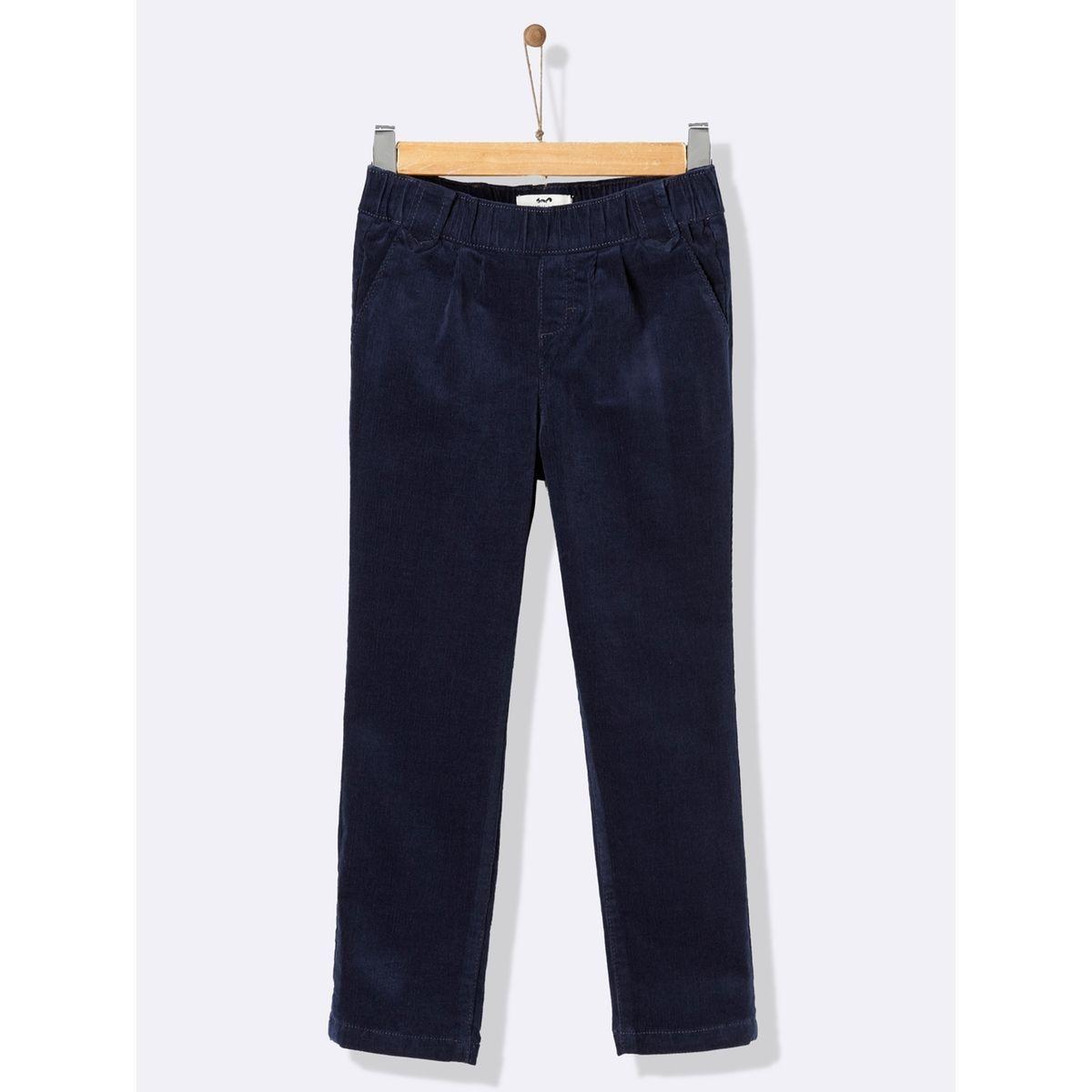 Pantalon velours taille élastiquée fille