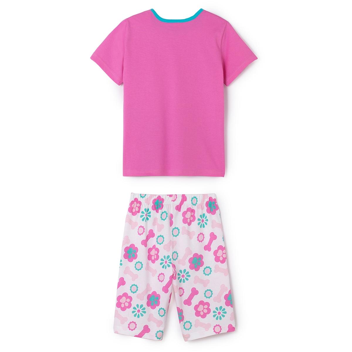 Пижама с шортами с рисунком для девочек, 2-8 летПижама с шортами для девочек PAT PATROUILLE. Футболка с круглым вырезом. Рисунок спереди. Шорты с эластичным поясом. Сплошной рисунок.                      Состав и описание                      Материал       100% хлопок           Марка       PAT PATROUILLE                                  Уход           Стирать и гладить с изнаночной стороны           Машинная стирка при 30 °C в умеренном режиме с вещами схожих цветов           Машинная сушка в умеренном режиме           Гладить при низкой температуре<br><br>Цвет: розовый + рисунок<br>Размер: 2 года - 86 см.4 года - 102 см.6 лет - 114 см