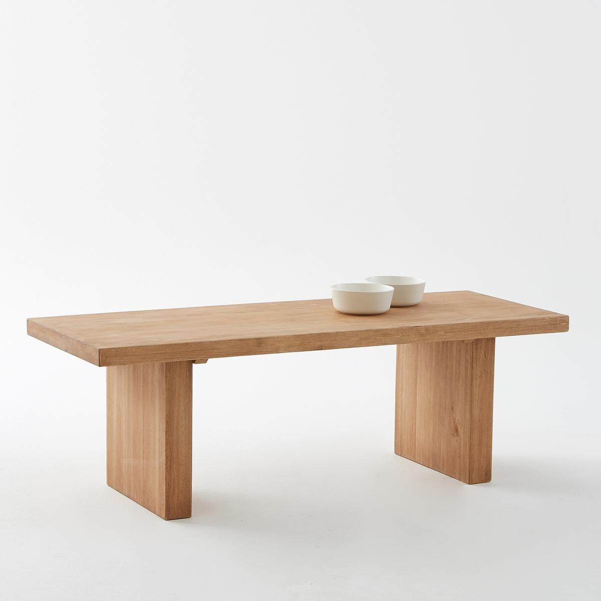 Столик журнальный MALUПрямоугольный журнальный столик Malu сочетает характеристики монашеских столиков и элегантность, неподвластную времени.Описание столика Malu :Столешница толщиной. 4 см (встроенный ремень).Широкие боковые вставки толщиной. 6,5 см.Небольшая глубина, не очень громоздкий.Характеристики столика Malu :Каркас из массива сосны.Покрытие натуральным воском.Другие модели коллекции Malu вы можете найти на сайте laredoute.ruРазмеры столика Malu :Ширина : 120 смВысота : 40 смГлубина : 45 смРазмеры и вес упаковки :1 упаковкаШ.127,5 x В.17,5 x Г.52,5 см, 17 кг Доставка:Продается в разобранном виде.  Товар может быть доставлен до Вашей двери по предварительной договоренности! Внимание! Убедитесь, что возможно осуществить доставку товара, учитывая его габариты (проходит в дверные проемы, по лестницам в лифты).<br><br>Цвет: сосново-зеленый вощеный<br>Размер: единый размер