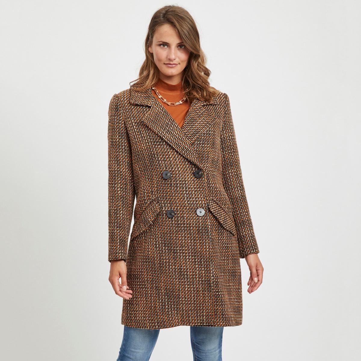 Пальто La Redoute Средней длины 36 (FR) - 42 (RUS) оранжевый платье la redoute радужное estelle 36 fr 42 rus черный