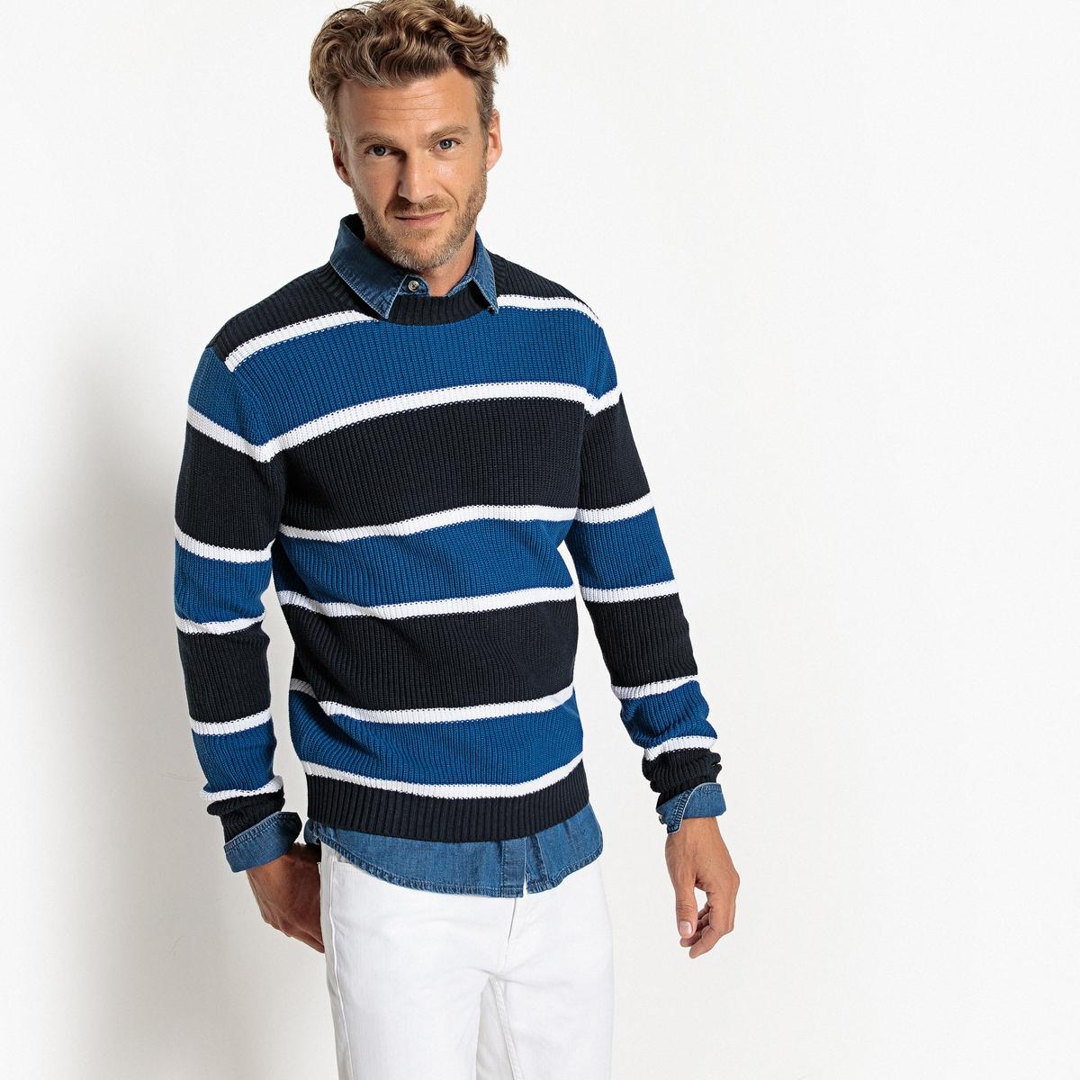 Пуловер с круглым вырезом из тонкого трикотажа La Redoute Collections