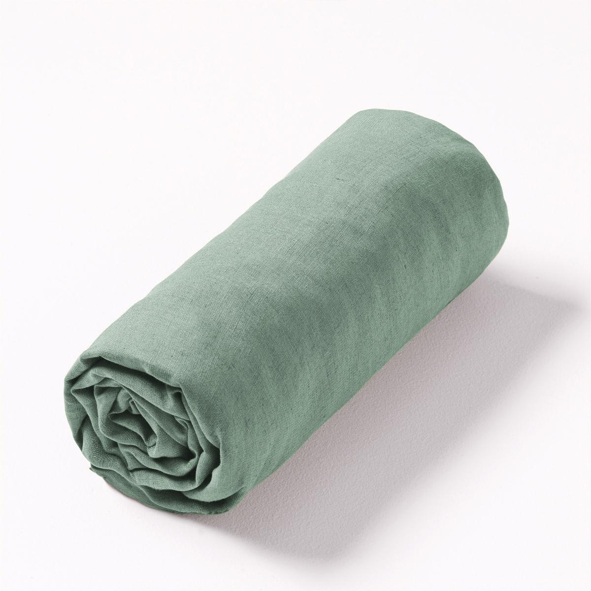 Простыня натяжная льняная Elina100% лен. Ткань с легким жатым эффектом не требует глажки, проста в уходе, становится более мягкой и нежной с течением времени.Состав :- 100% лен.Отделка :- Подходит для матраса толщиной 25 см.Уход :- Стирка при 40°.Размеры :90 x 190 см : 1-сп.140 x 190 см : 1-сп.160 x 200 см : 2-сп.180 x 200 см : 2-сп.Знак Oeko-Tex® гарантирует, что товары протестированы, сертифицированы и не содержат вредных для здоровья веществ.<br><br>Цвет: зеленый шалфей,красный карминный,темно-зеленый,цвет неокрашенного льна