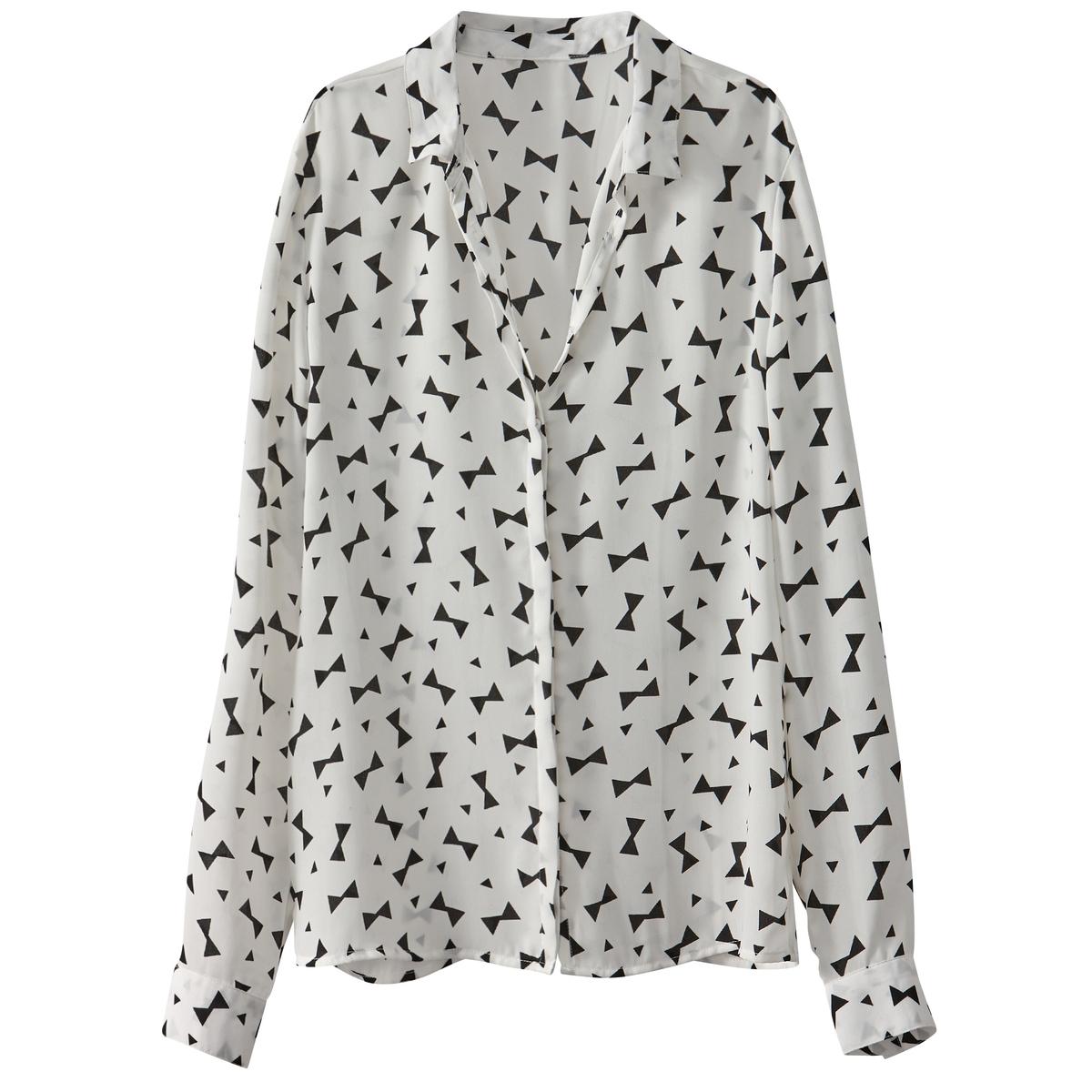 Рубашка струящаяся с рисунком