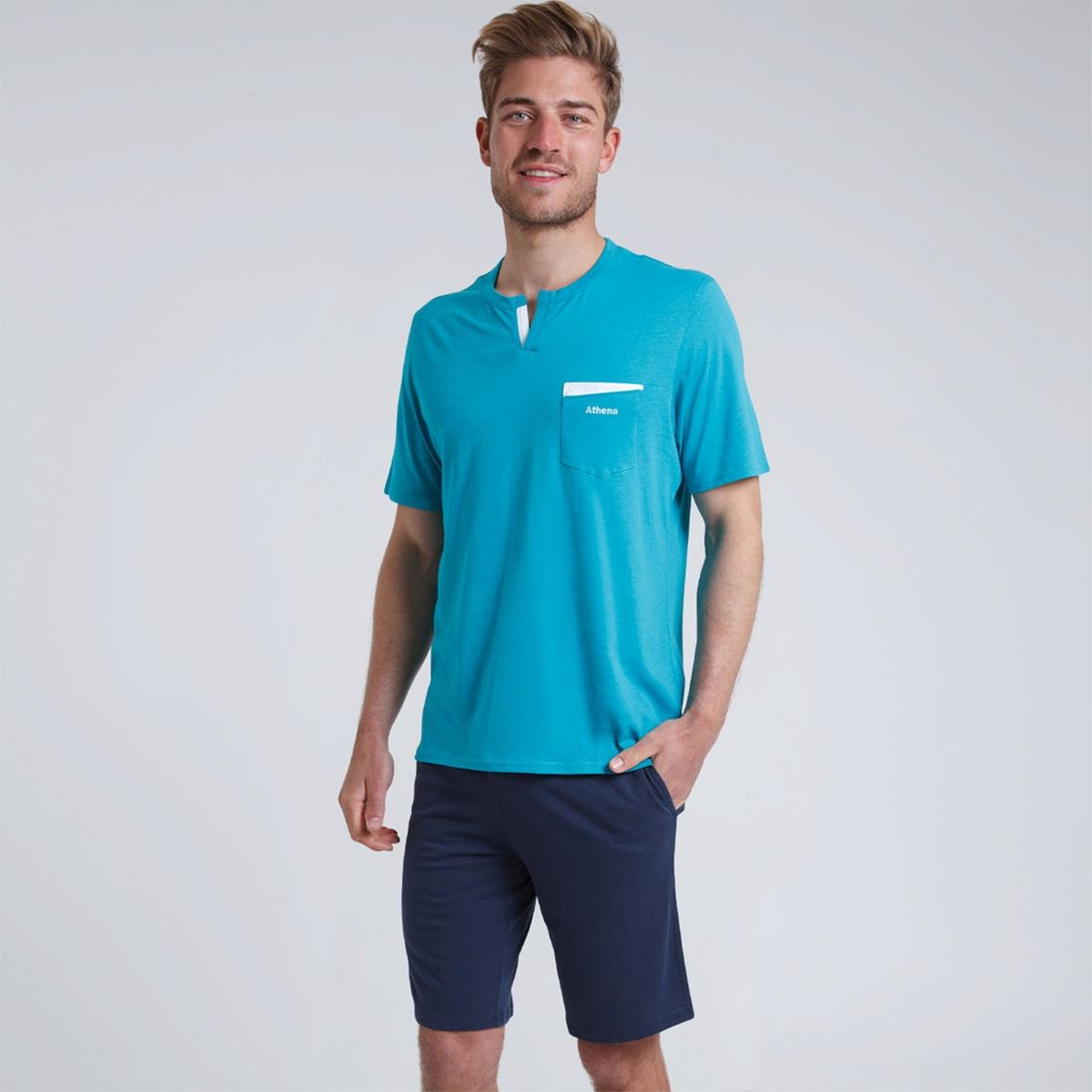 Пижама La Redoute С шортами Chic et Frais S синий
