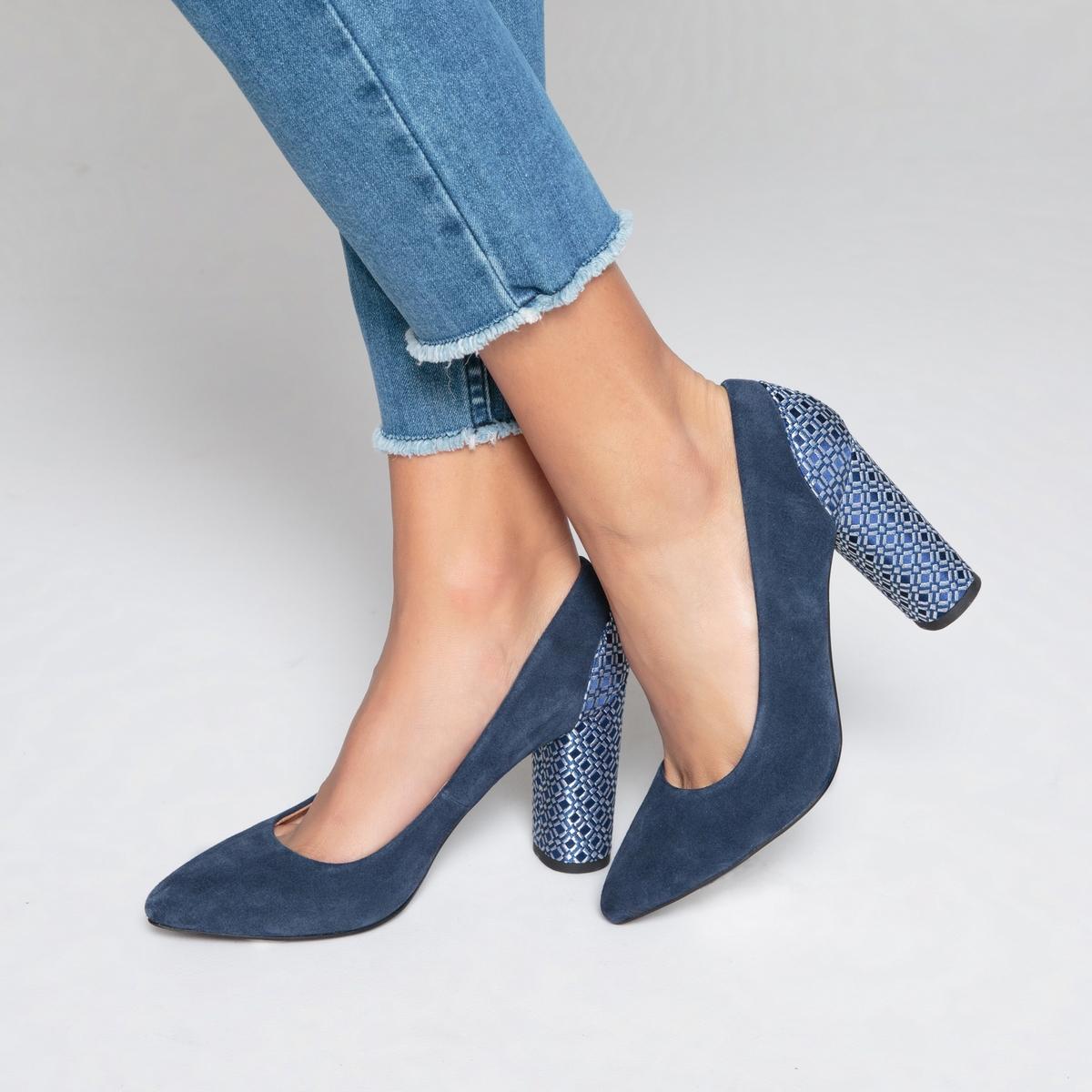 Туфли кожаные на оригинальном каблуке туфли la strada туфли на каблуке