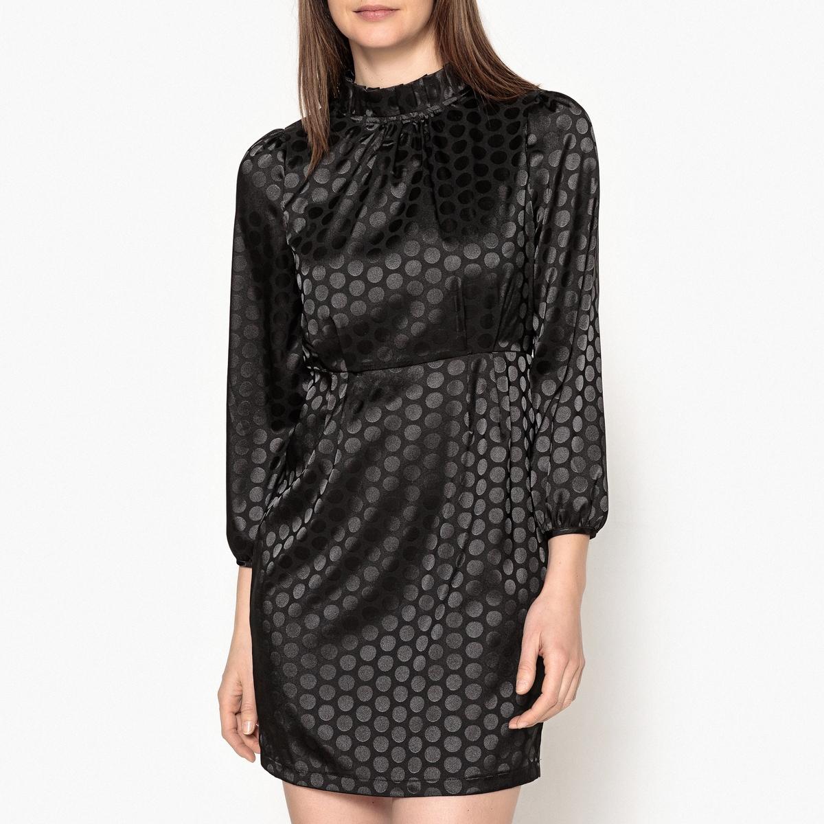 Платье короткое в горошек