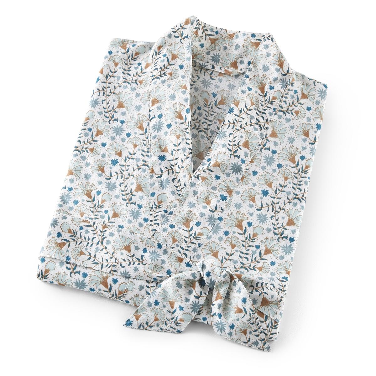 Пеньюар-кимоно LaRedoute — 100 хлопковая вуаль Kalyan 38/40 (FR) - 44/46 (RUS) белый