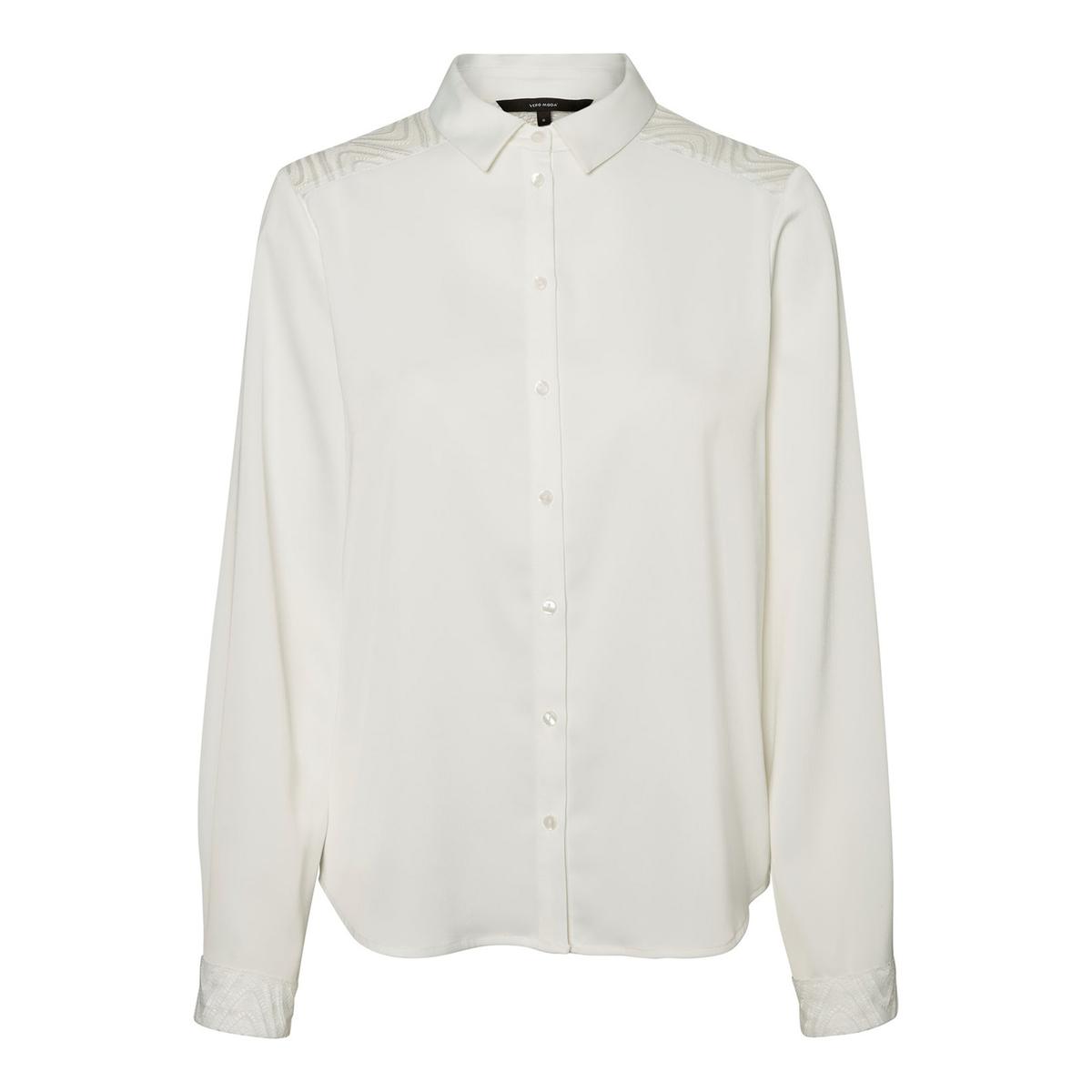Camisa acetinada com renda