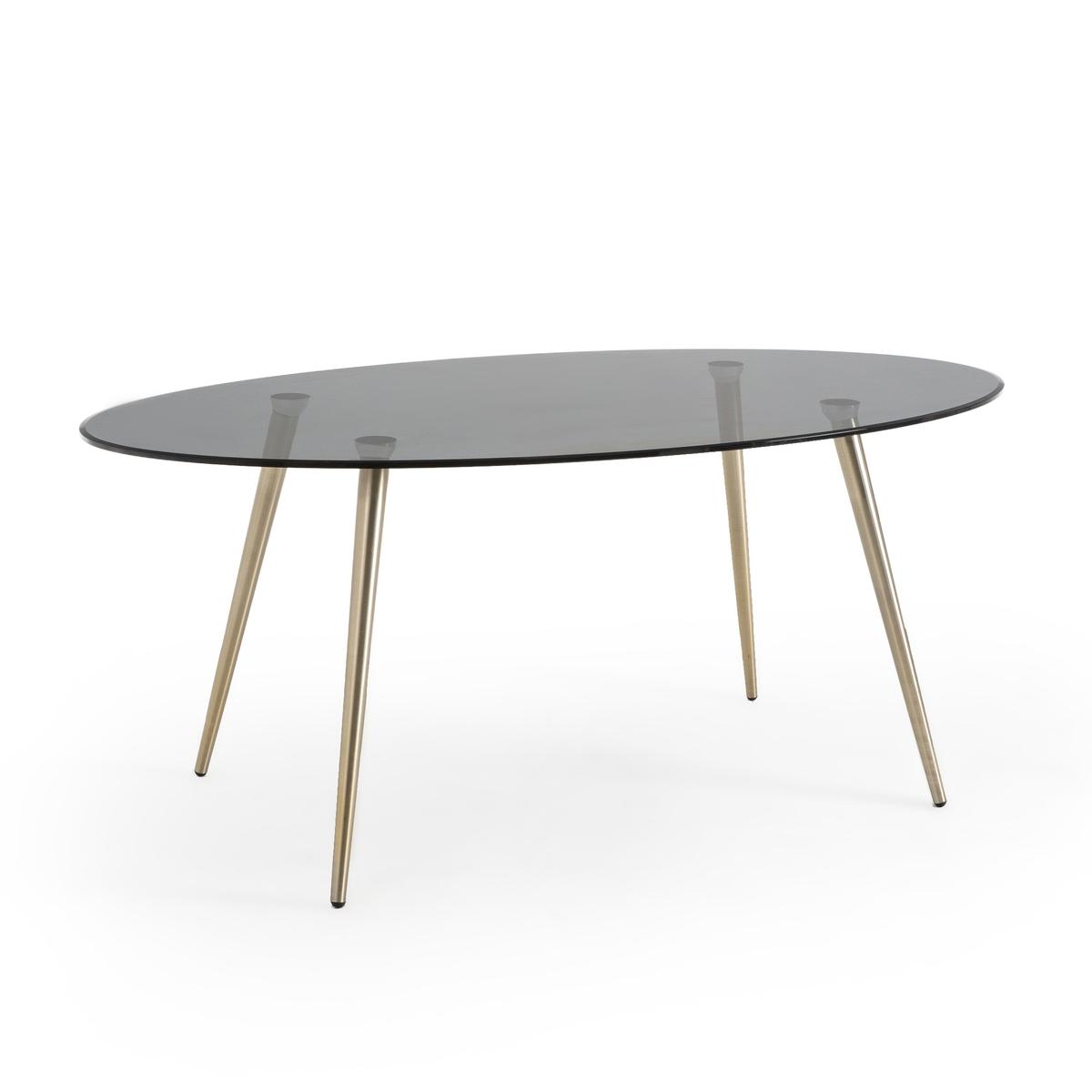 Стол LaRedoute Обеденный овальный на 6-8 персон Topim 8 персоны черный круглый laredoute стол на 4 8 персон authentic style 8 персоны белый
