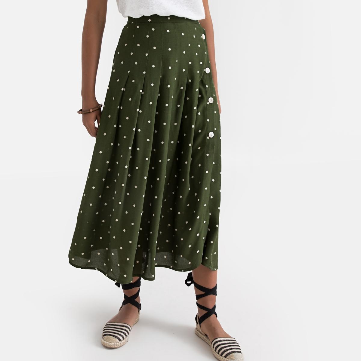 Falda midi, estampado de lunars