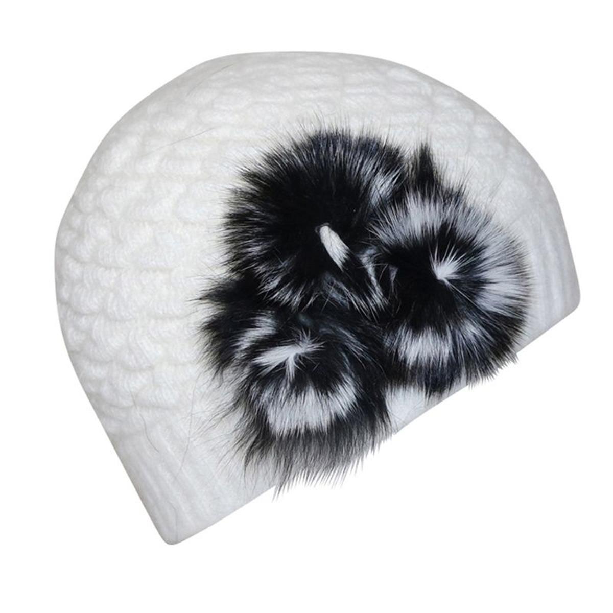 Bonnet   bi color flore