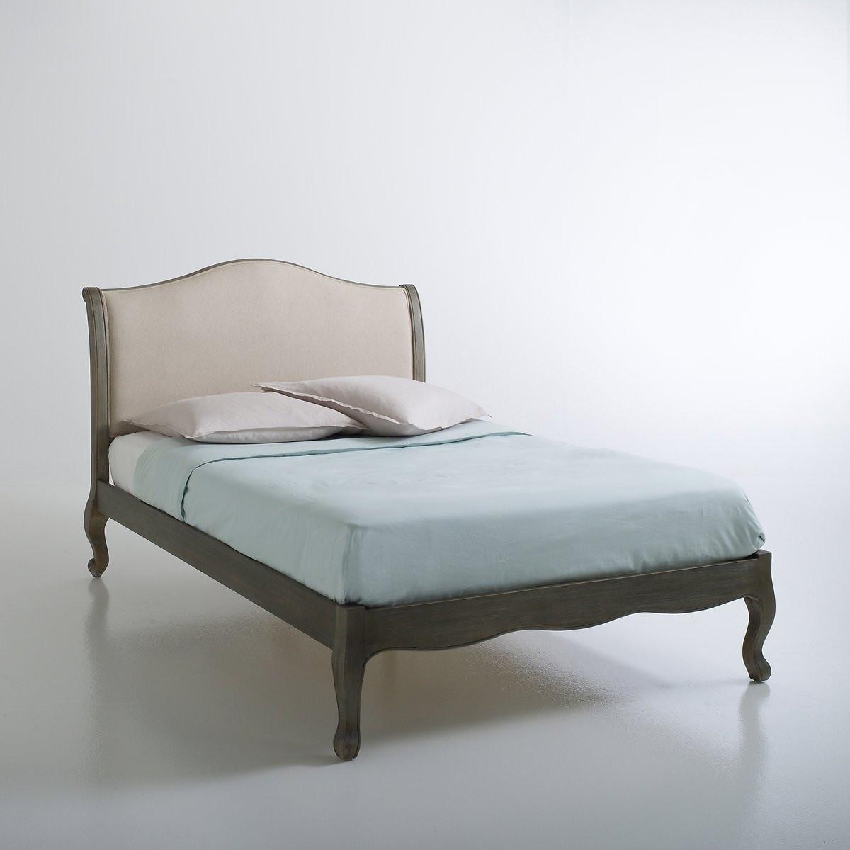 Кровать LaRedoute 2-спальная сетка Janel 140 x 190 см бежевый