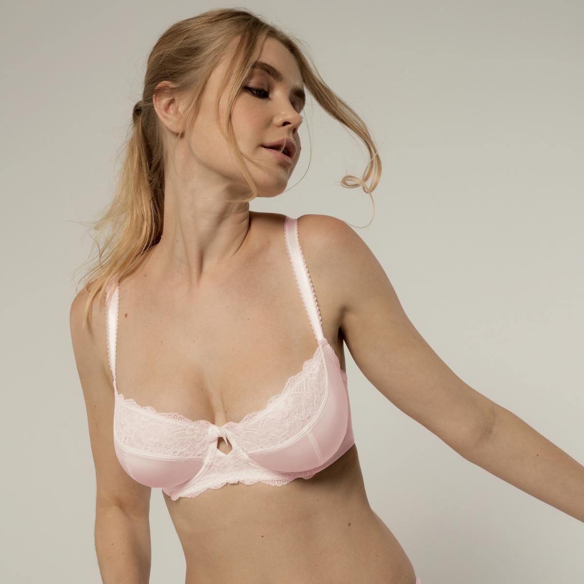 цена Бюстгальтер La Redoute Облегающий Cline D розовый онлайн в 2017 году