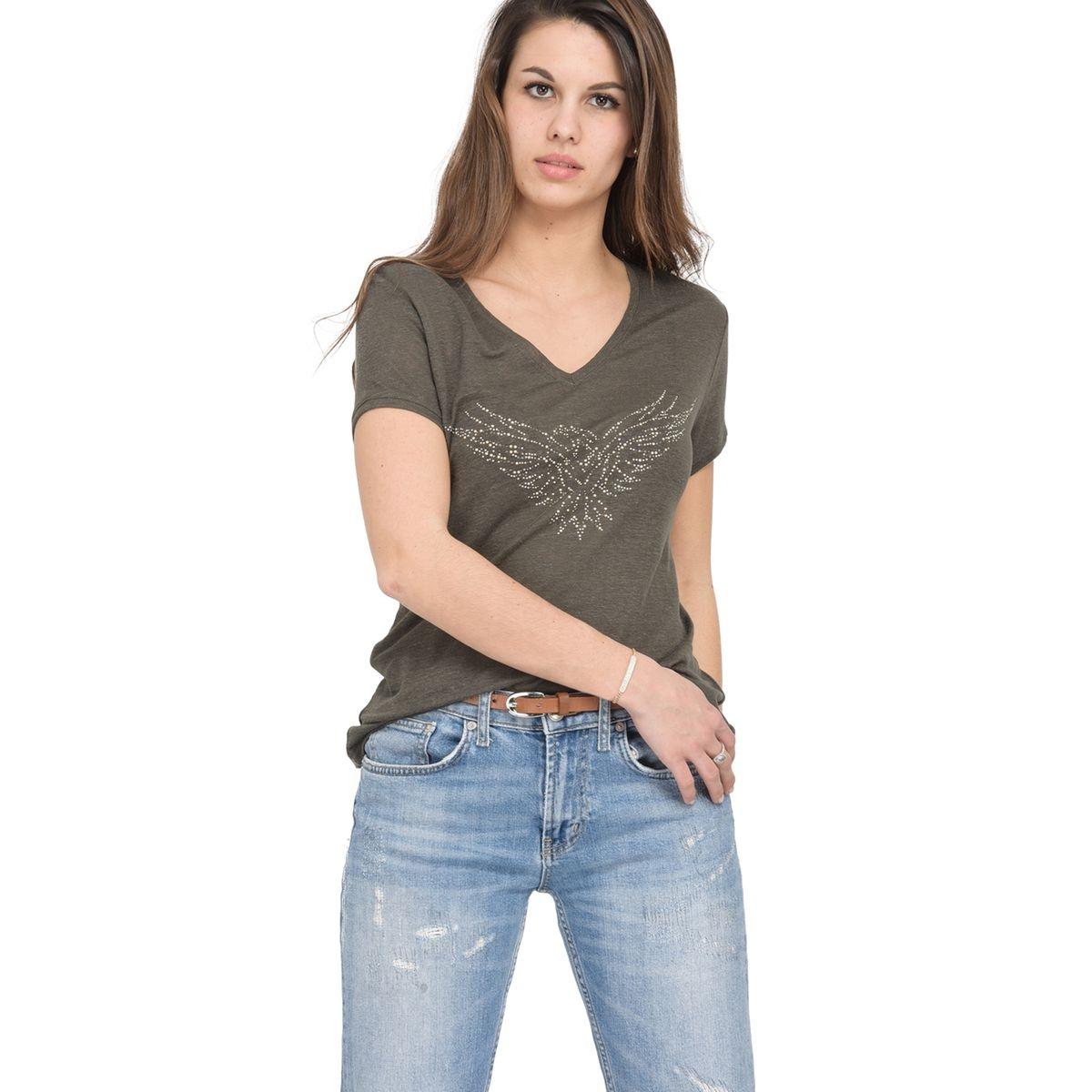 T-shirt en jersey de lin souple