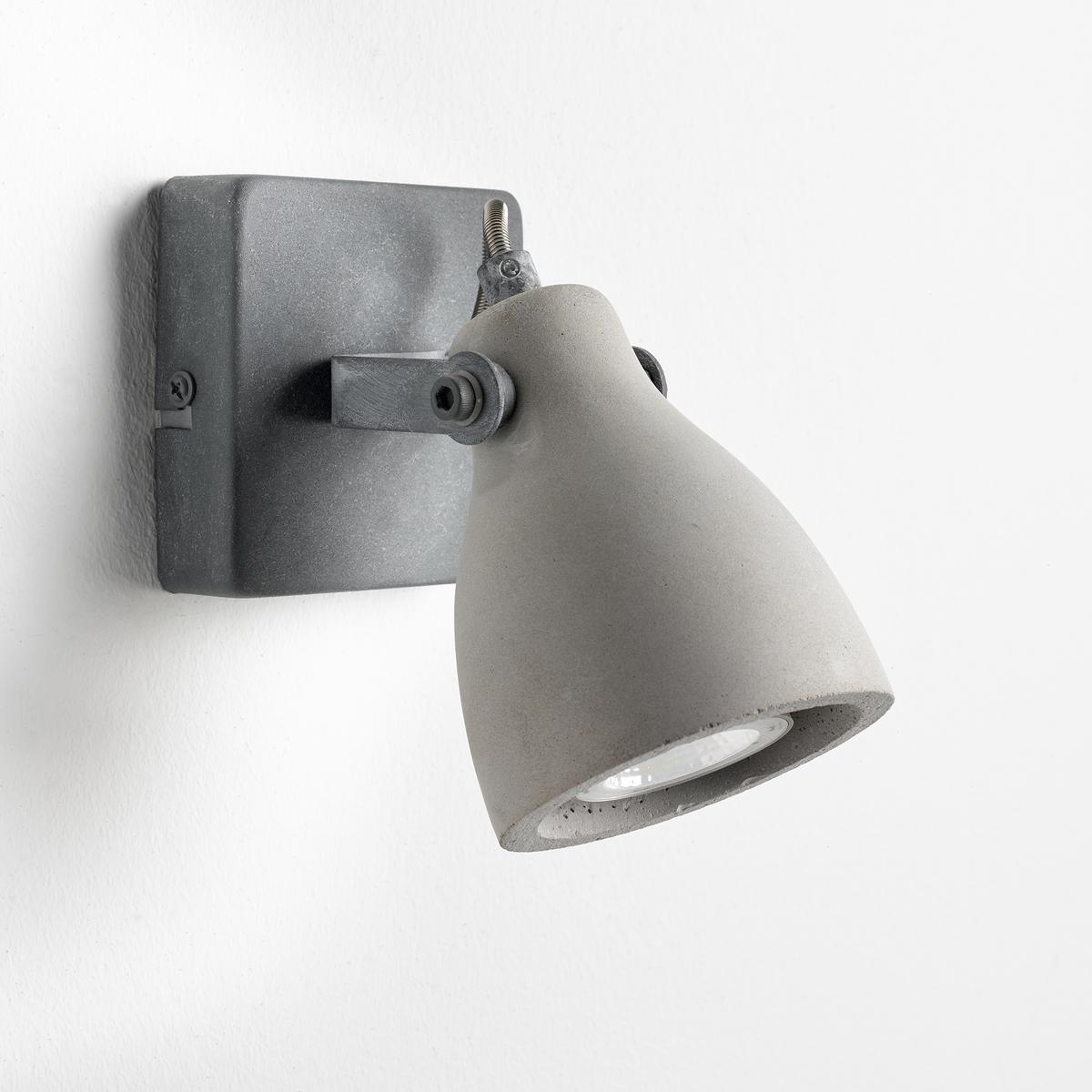 Бра из бетона CimentesБра Cimentes. Сочетание металла и бетона, поворачивающийся бра для направленного света. Бра отлично подойдет для любой комнаты.Характеристики : - Конический диффузор из бетона- Розетка из металла- Патрон G10 для светодиодной лампы макс. 5,8 Вт (продается отдельно)- Совместим с лампами класса энергопотребления A.- Поставляется в собранном виде  Размеры : - Ш.9,5 x В.17,5 x Г.9,5 смРазмеры и вес посылки: - Ш.45 x В.41 x Г.32 см, 1,2 кг<br><br>Цвет: серый бетонный