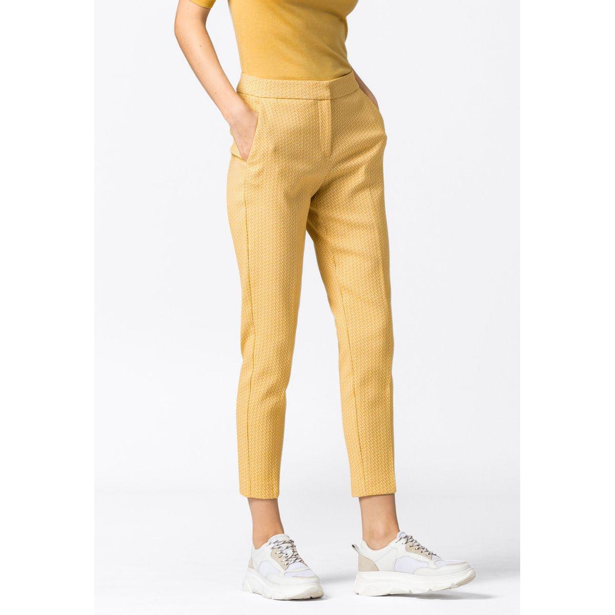 Pantalon jacquard à plis de repassage permanents