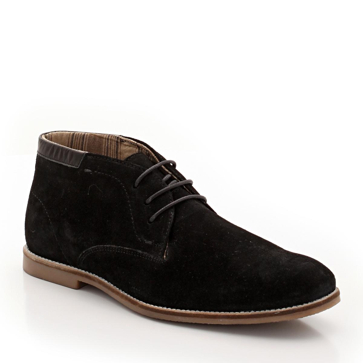 Ботинки La Redoute Из невыделанной яловичной кожи 40 черный цена
