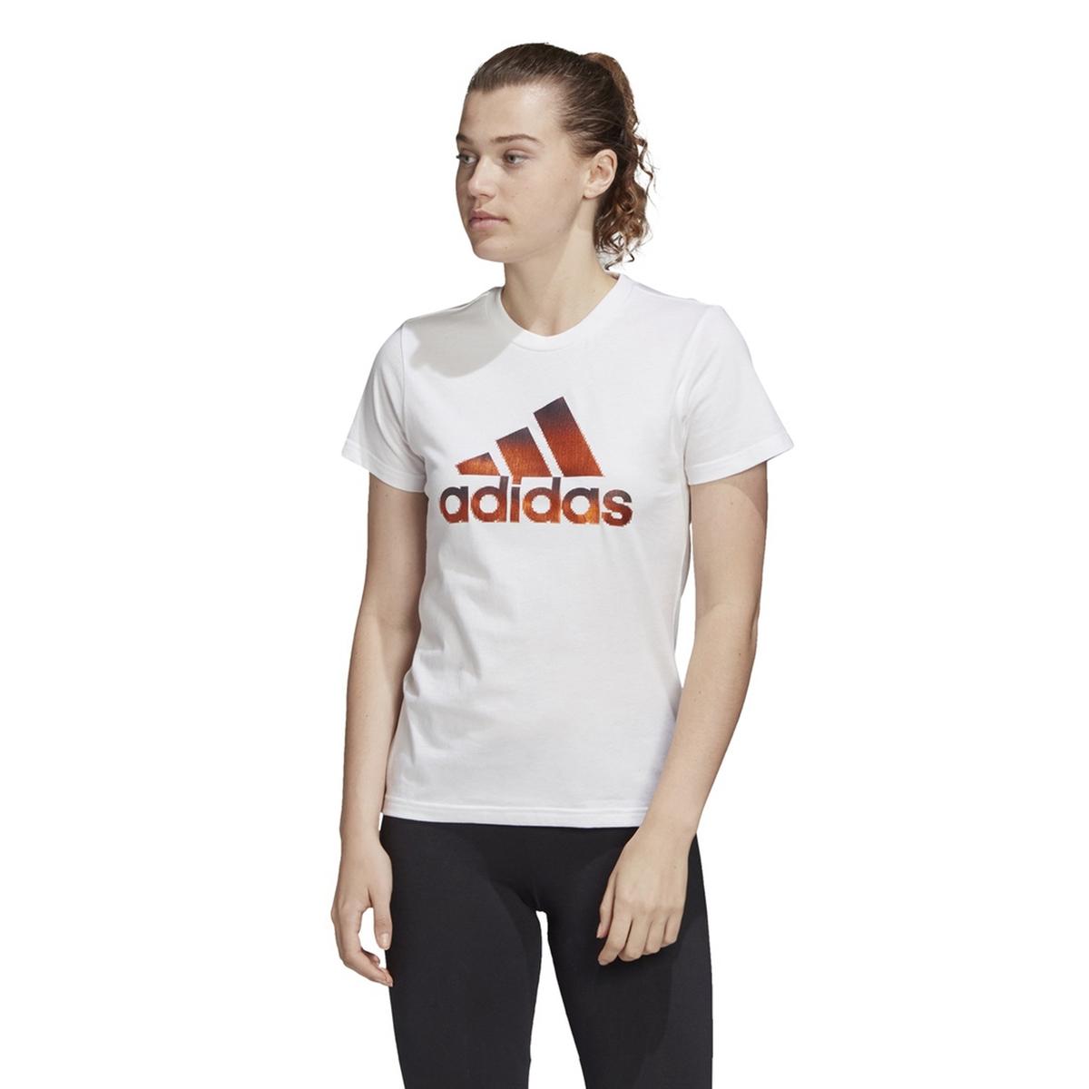 Camiseta deportiva, cuello redondo de manga corta