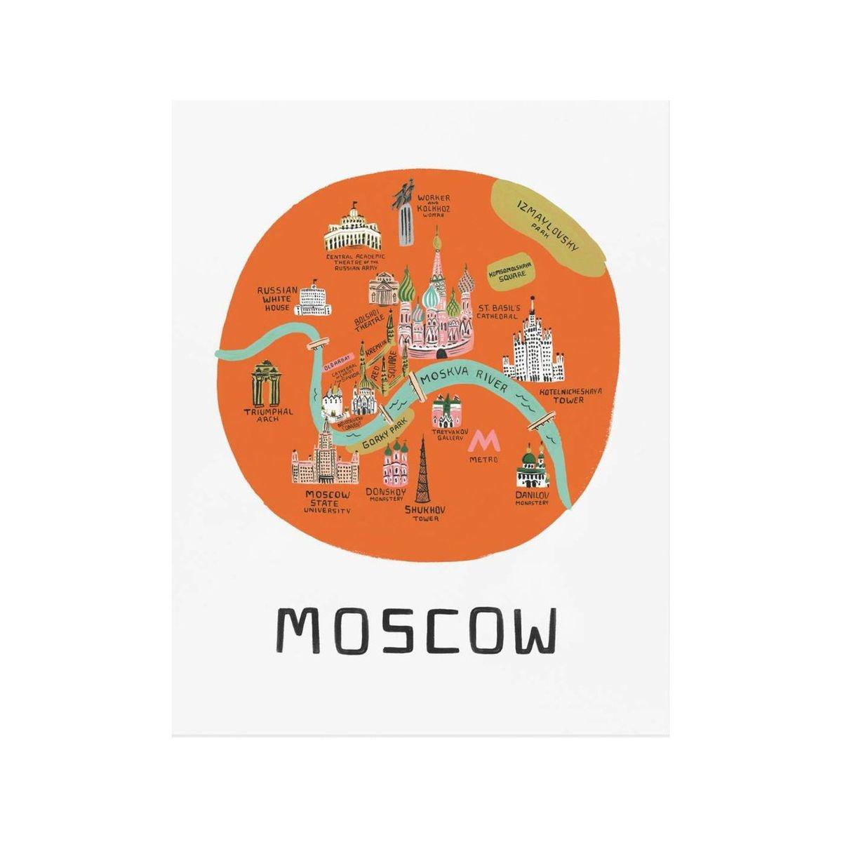 Affiche Moscou Rifle Paper
