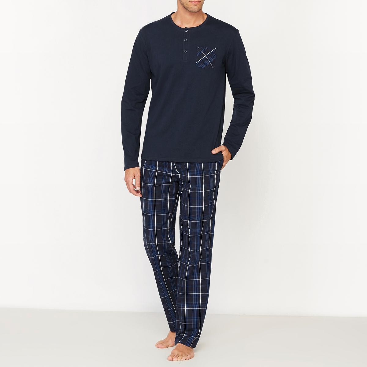 Пижама с длинными рукавами и с брюками в клетку от La Redoute Collections