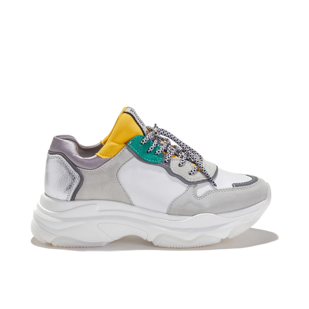Кеды La Redoute На шнуровке BAISLEY 38 белый ботинки la redoute на шнуровке 38 белый