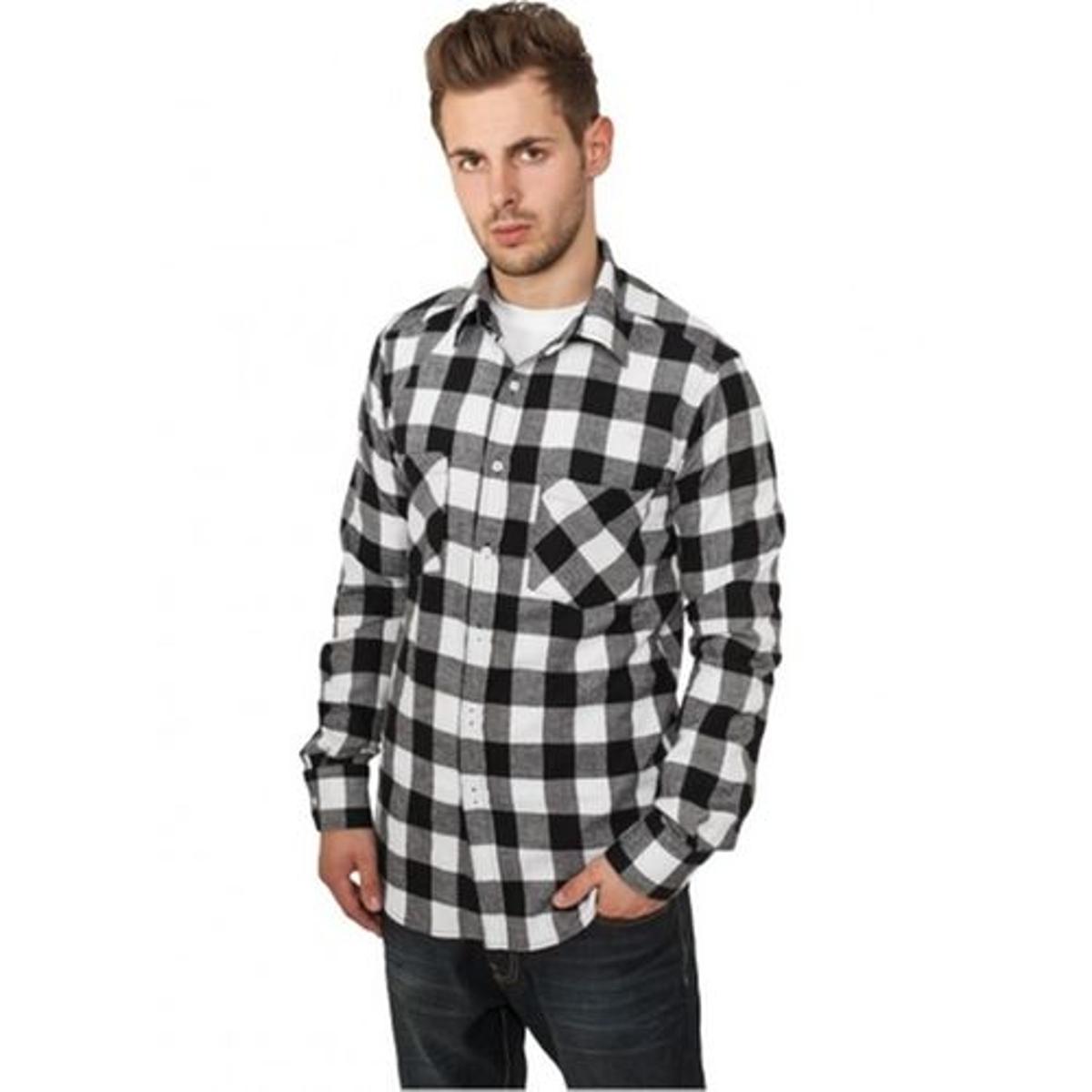 Chemise à carreaux regular flanelle