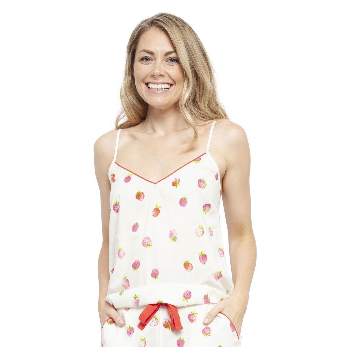 Caraco de Pyjama Imprimé Fraise SOPHIA