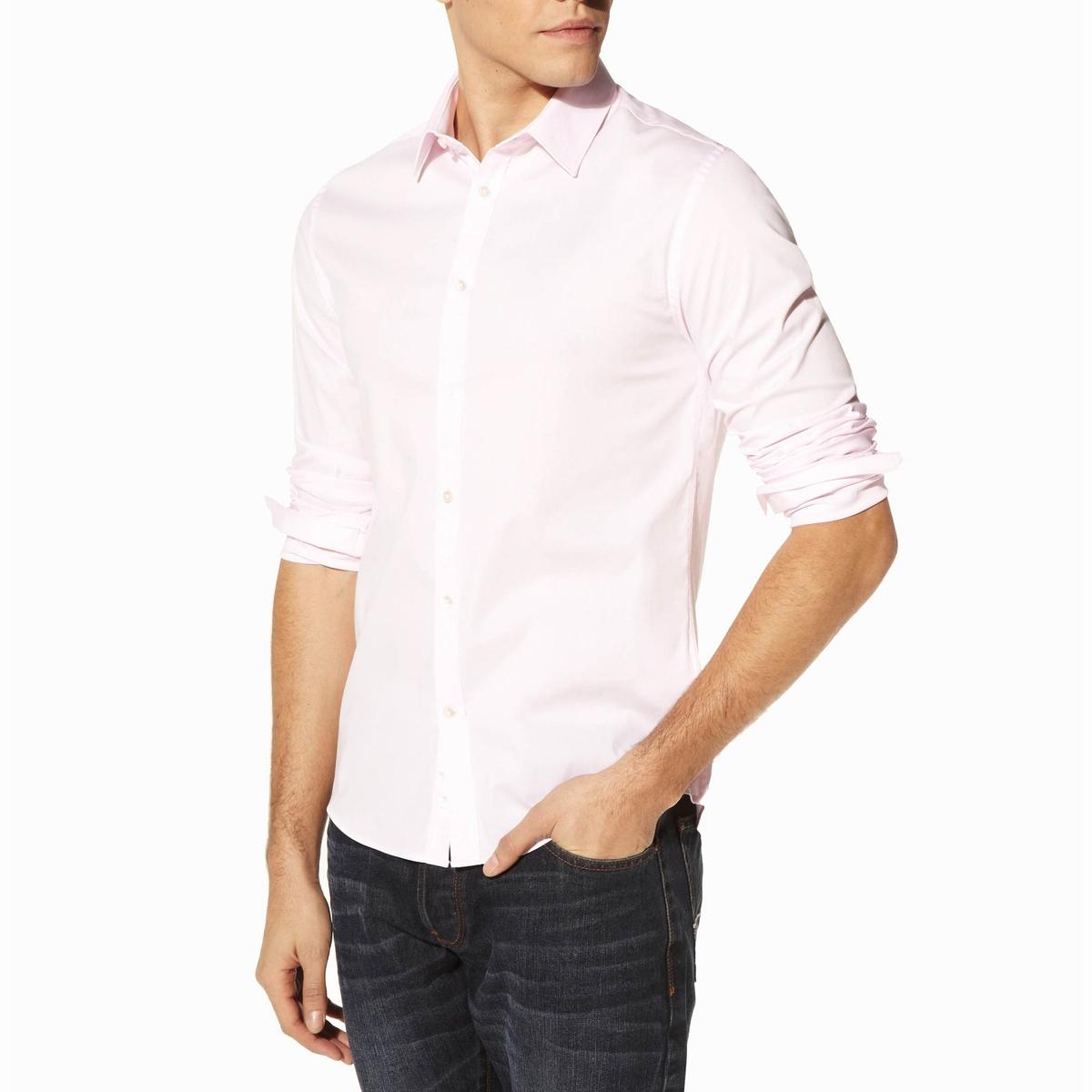 Рубашка приталенная с длинными рукавами, из стрейч поплина Jasantal 2