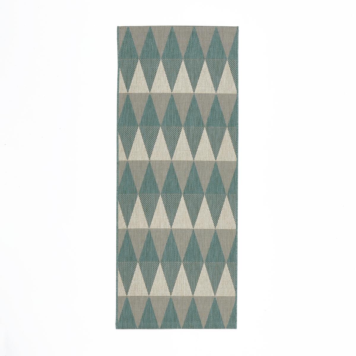 Дорожка ковровая с рисунком из ромбов, Mourwad дорожка ковровая грязезащитная rekord 811 1 0м коричневый