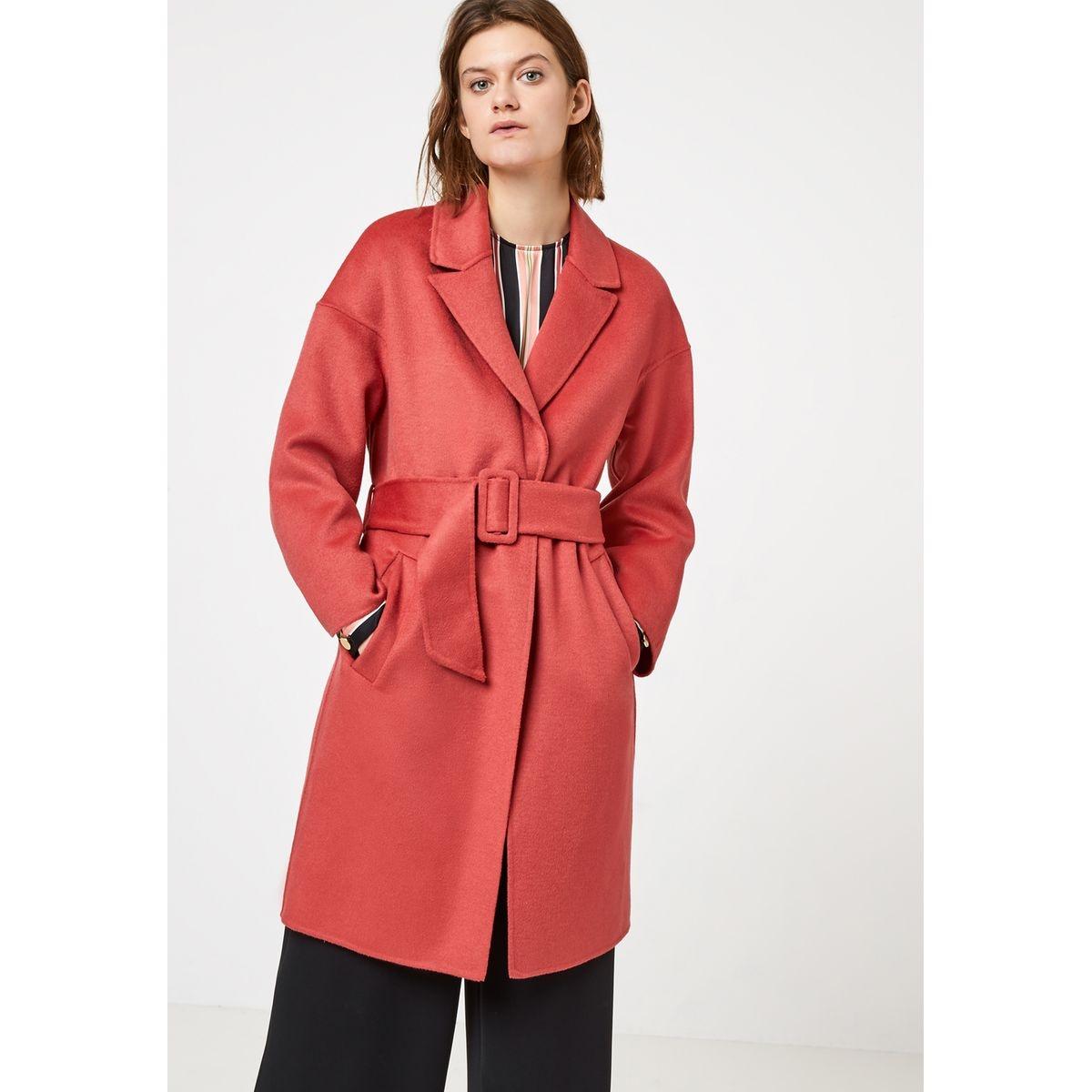 Manteau doubleface à ceinture